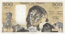 France 500 Francs Pascal - St Jacques Tower - 06-12-1973 - Serial H.36 - F to VF