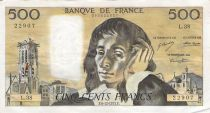 France 500 Francs Pascal - St Jacques Tower - 06-12-1973 - Serial L.38 - F to VF