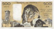 France 500 Francs Pascal - St Jacques Tower - 06-12-1973 - Serial R.36 - F to VF