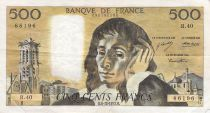 France 500 Francs Pascal - St Jacques Tower - 06-12-1973 - Serial R.40 - F+
