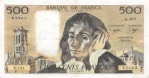 France 500 Francs Pascal - St Jacques Tower - 07-06-1979 - Serial A.104 - VF