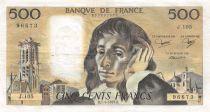 France 500 Francs Pascal - St Jacques Tower - 07-06-1979 - Serial J.105 - VF