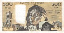 France 500 Francs Pascal - St Jacques Tower - 07-06-1979 - Serial O.98 - VF
