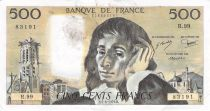 France 500 Francs Pascal - St Jacques Tower - 07-06-1979 - Serial R.99 - VF+
