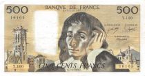 France 500 Francs Pascal - St Jacques Tower - 07-06-1979 - Serial T.100 - VF