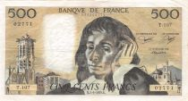 France 500 Francs Pascal - St Jacques Tower - 07-06-1979 - Serial T.107 - VF