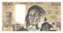 France 500 Francs Pascal - St Jacques Tower - 08-01-1981 - Serial U.133 - SUP