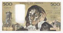 France 500 Francs Pascal - St Jacques Tower - 1969