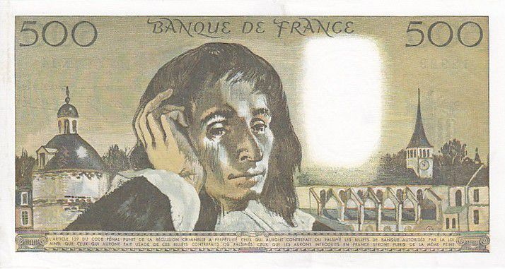 France 500 Francs Pascal - St Jacques Tower - 1969