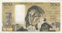 France 500 Francs Pascal -02-12-1971 Serial P.27 - VF - P.156