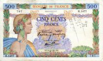 France 500 Francs Pax with wreath - 05-12-1940 - Serial H.1477 - VF