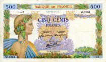 France 500 Francs Pax with wreath - 06-02-1941 - Serial W.2361 - VF