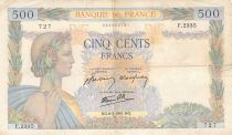 France 500 Francs Pax with wreath - 06-02-1941 Serial F.2335 - F