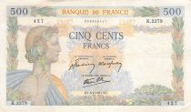France 500 Francs Pax with wreath - 06-02-1941 Serial K.2279 - VF