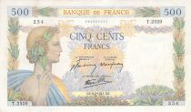 France 500 Francs Pax with wreath - 06-02-1941 Serial T.2520 - VF