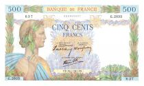 France 500 Francs Pax with wreath - 16/01/1941 - G.2033