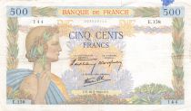 France 500 Francs Pax with wreath - 16-05-1940 Serial E.158 - F+