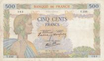 France 500 Francs Pax with wreath - 16-05-1940 Serial T.250 - F+