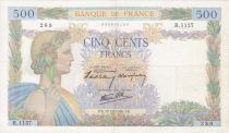 France 500 Francs Pax with wreath - 17-10-1940 Serial R.1157