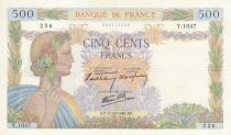 France 500 Francs Pax with wreath - 17-10-1940 Serial Y.1047 - XF