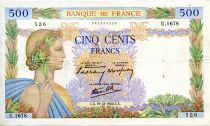 France 500 Francs Pax with wreath - 19-12-1940 - Serial U.1678 - VF