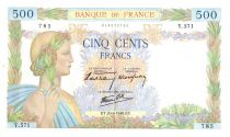 France 500 Francs Pax with wreath - 1940-06-20 -  Y.571