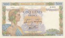France 500 Francs Pax with wreath - 1942 - Serial M.6853