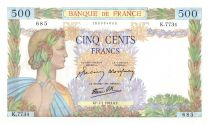 France 500 Francs Pax with wreath - 1943-01-07 - K.7734