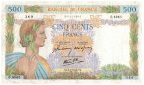 France 500 Francs Pax with wreath - 1944-04-06 - O.8065  scarce date
