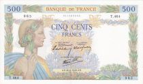 France 500 Francs Pax with wreath - 20-06-1940 Serial T.464