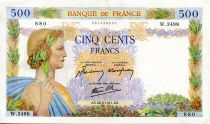France 500 Francs Pax with wreath - 28-08-1941 - Serial W.3498 - VF
