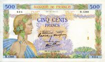 France 500 Francs Pax with wreath - 31-10-1940 - Serial B.1268-604 - VF
