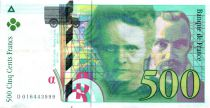 France 500 Francs Pierre and Marie Curie - 1994 diff. serials