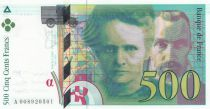 France 500 Francs Pierre and Marie Curie - 1994 Serial A.008