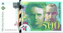France 500 Francs Pierre and Marie Curie - 1995 Serial B.034
