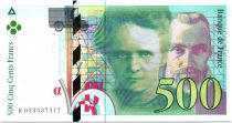 France 500 Francs Pierre and Marie Curie - 1995 Serial R.033