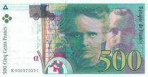 France 500 Francs Pierre and Marie Curie - 1998 WITHOUT SECURITY TREAD - UNC