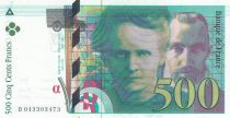 France 500 Francs Pierre and Marie Curie - 2000 Serial B.043