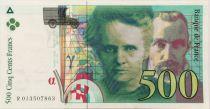 France 500 Francs Pierre et Marie Curie - 1994 Serial R.013 - XF