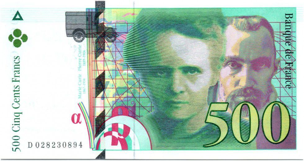 France 500 Francs Pierre et Marie Curie - 1994 Série D.28