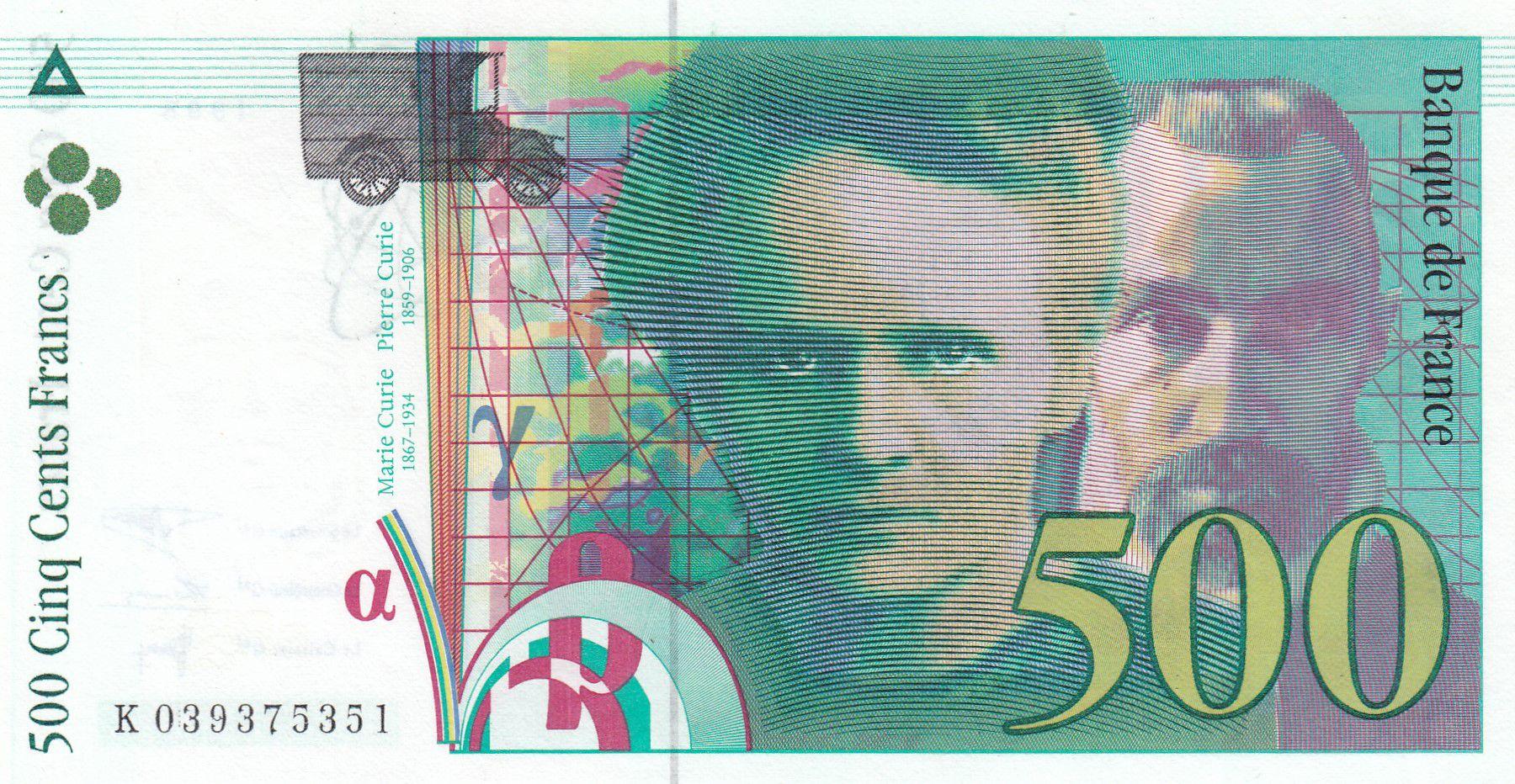 France 500 Francs Pierre et Marie Curie - 1998 Série K.039 - Sans STRAP - NEUF