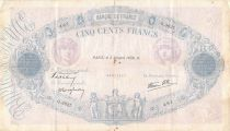 France 500 Francs Pink and Blue - 05-10-1939 Serial Q.3637 - F