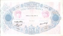 France 500 Francs Pink and blue - 11-03-1937 Serial U.2525