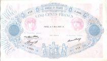 France 500 Francs Pink and blue - 11-03-1937 Serial U.2525