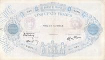 France 500 Francs Pink and Blue - 14-04-1938 Serial N.2811 - F+