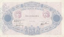 France 500 Francs Pink and blue - 19-10-1939 Serial S.3679 - VF