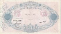 France 500 Francs Pink and Blue - 25-06-1936 Serial S.2323 - F to VF
