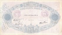 France 500 Francs Pink and Blue - 26-10-1939 Serial C.3700 - F+