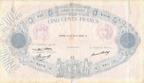 France 500 Francs Pink and Blue - 27-04-1933 Serial N.2176 - VG to F