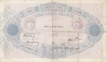 France 500 Francs Pink and blue - 27-05-1938 Serial F.2919 - F